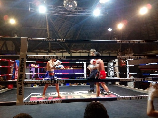 Muay Thai fights at Sabay bar