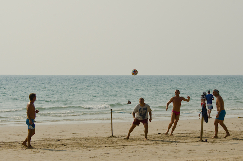 Footvolley on White Sand Beach