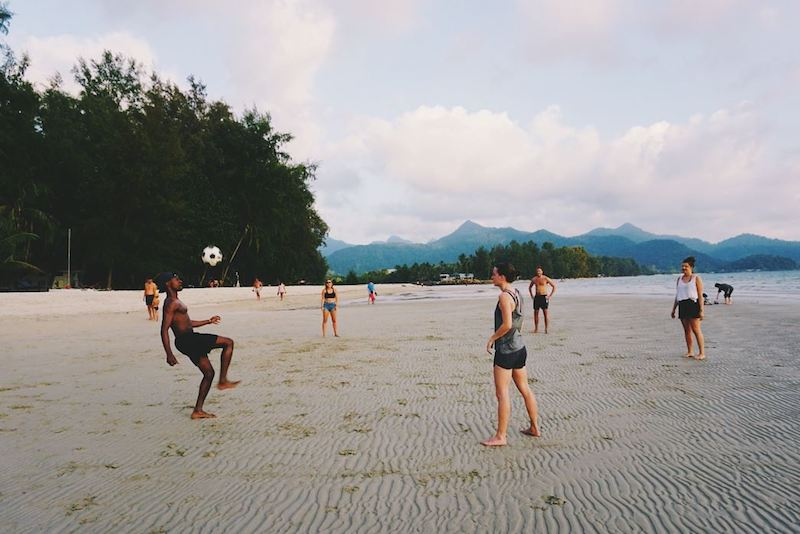 Footvolley on Klong Prao Beach