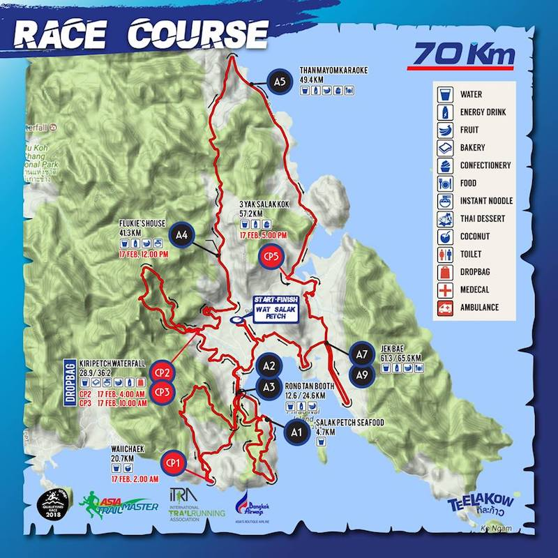 Ultra-Trail Unseen Koh Chang - 70 km