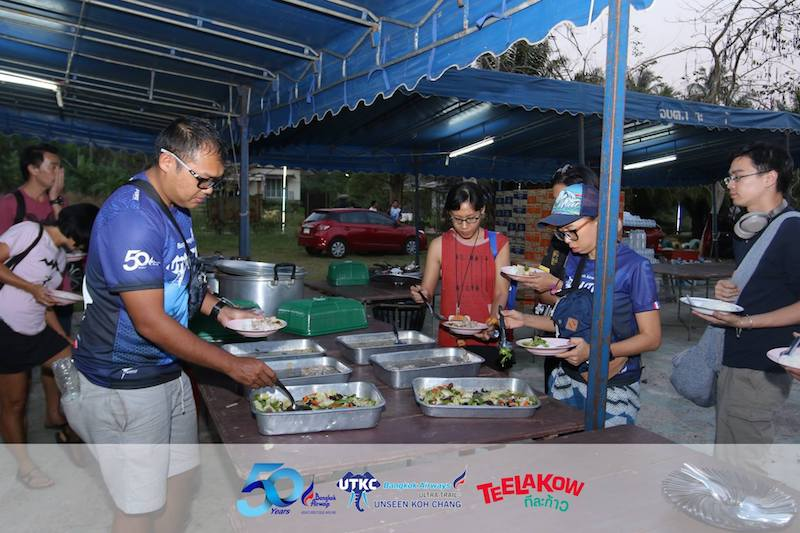 Ultra Trail Unseen Koh Chang - Food after the race